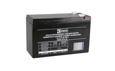 Baterie olověná 12V / 9Ah EMOS bezúdržbový akumulátor faston 6,3mm
