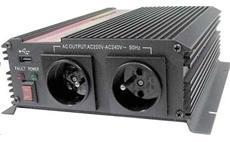 Carspa CAR1KU 12V/230V 1000W USB (mod. sin.)