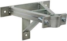 Držák stožáru 42-67mm, 20cm od zdi (se vzpěrou), žár