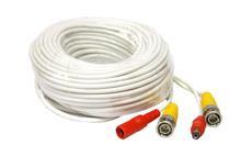 Kabel koaxiální s BNC + napájení 30 metrů bílý