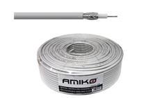 Koaxiální kabel Amiko RG6-CCS / 100m / 6,8 mm