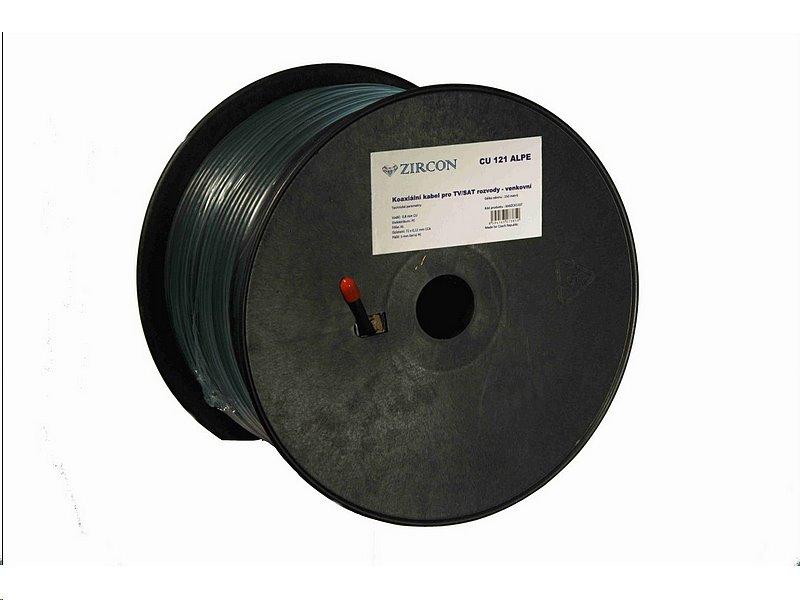 Koaxiální kabel Zircon CU 121 ALPE / 150 m / 5mm