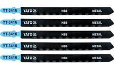 List pilový do přímočaré pily 130 mm na kov TPI21 5 ks YT-3416