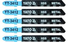 List pilový do přímočaré pily 75 mm na kov TPI21 5 ks