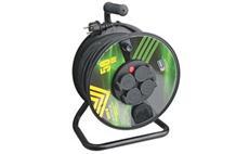 Prodlužovací kabel PROFI na bubnu 50m / 3x1,5mm gumový / 4 zásuvky