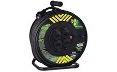 Prodlužovací kabel PROFI na bubnu 50m / 3x2,5mm gumový / 4 zásuvky
