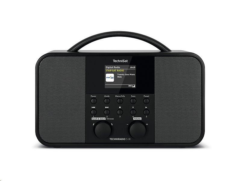 Rádio TechniSat TECHNIRADIO 5 IR, černé - ROZBALENO